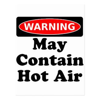 Maj innehåller hettluft vykort