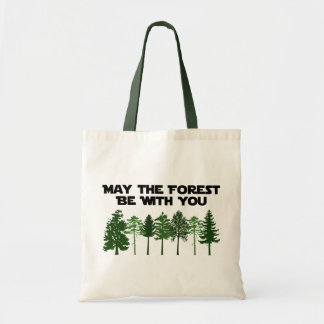 Maj skogen är med dig budget tygkasse
