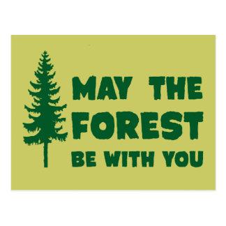Maj skogen är med dig vykort