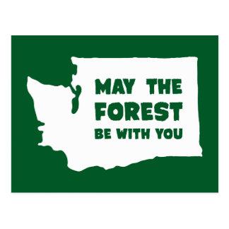 Maj skogen är med dig Washington Vykort