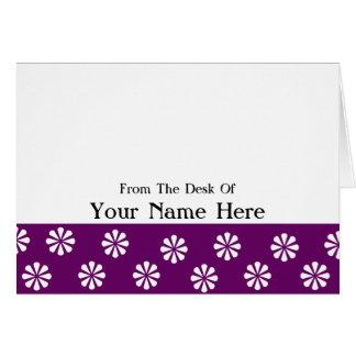 Majestätisk blommigt från skrivbordet av kort
