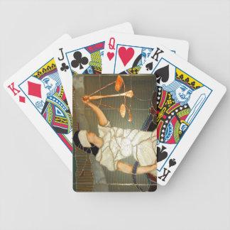 Majestätisk damrättvisa i målat glassdesign spelkort
