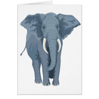 Majestätisk elefant hälsningskort