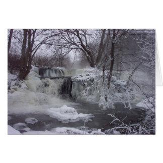 Majestätisk Iced vattenfalljul Card2 Hälsningskort
