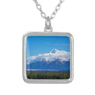 Majestätisk Mt McKinley Silverpläterat Halsband