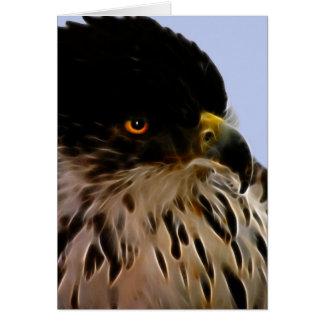 Majestätisk örn hälsningskort
