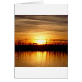 Majestätisk reflexion för solnedgång hälsningskort