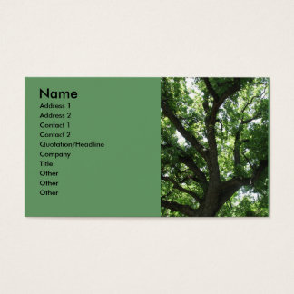 Majestätisk trädvisitkort visitkort