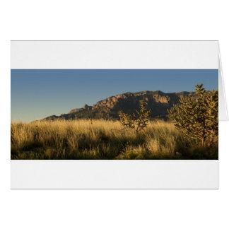 Majestätiska Sandia berg, Albuquerque Hälsningskort