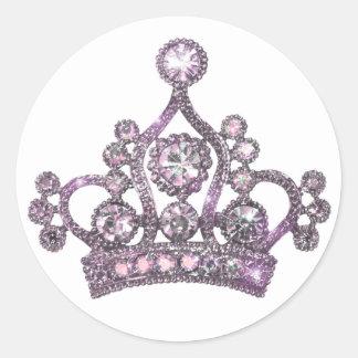 Majestätiska Tiaraklistermärkear Runt Klistermärke