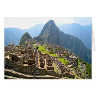 Majestätiskt beskåda av Macchu Picchu Hälsningskort
