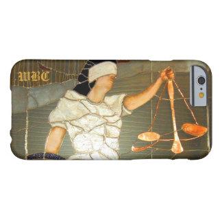 Majestätiskt damrättvisaporträtt i målat glass barely there iPhone 6 skal