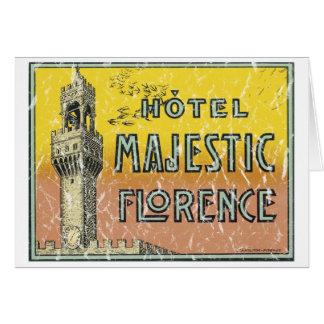 Majestätiskt hotell - bekymrat hälsningskort