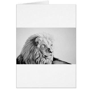 Majestätiskt lejont hälsningskort