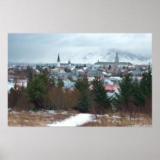 Majestätiskt Reykjavik foto Print