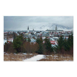 Majestätiskt Reykjavik foto Poster