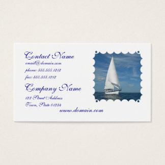 Majestätiskt segla visitkortar visitkort