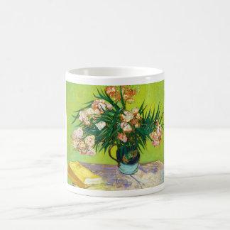 Majolicaburken förgrena sig oleanderen Vincent Van Kaffemugg