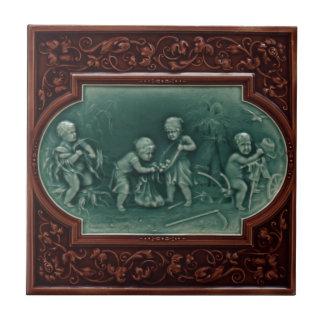 Majolicaskörden belägger med tegel vintagedesign kakelplatta