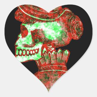 Makabert: Diameter de los Muertos Hjärtformat Klistermärke