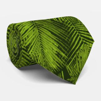 Makana gömma i handflatan hawaianska tropiska löv slips