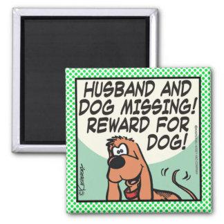 Make och hund magnet
