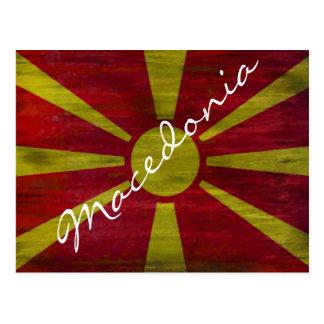 Makedonien bedrövade flagga vykort
