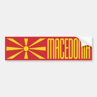 Makedonien flagga bildekal
