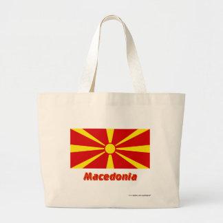 Makedonien flagga med namn tygkasse
