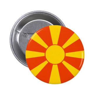 Makedonien flagga standard knapp rund 5.7 cm