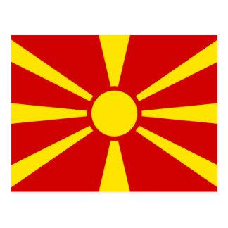 Makedonien flagga vykort