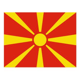 Makedonien flaggavykort vykort