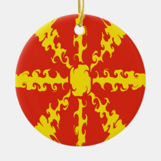 Makedonien Gnarly flagga Jul Dekorationer