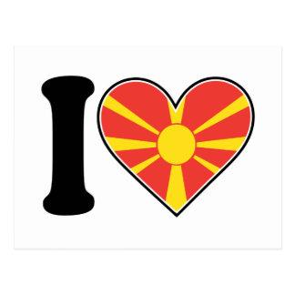 Makedonien hjärtaflagga vykort