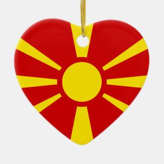 Makedonien Luxembourg flagga Julgransprydnad Keramik