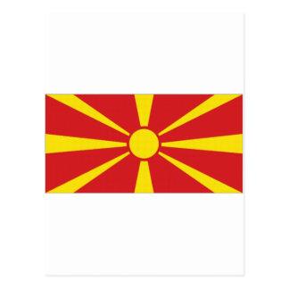 Makedonien medborgareflagga vykort