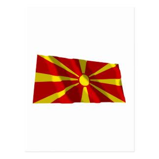 Makedonien som vinkar flagga vykort