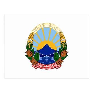 Makedonija grb vykort