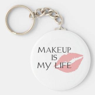 makeup är min livkyssar rund nyckelring