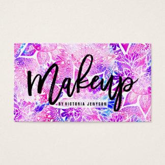 Makeup för mandala för boho för lilablåtthenna visitkort