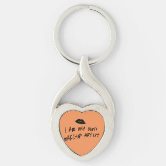 Makeup Keychain Twisted Heart Silverfärgad Nyckelring