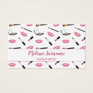 Makeup med rosa personlig för läpparMakeupkonstnär Visitkort