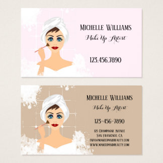 MakeUp- och skönhetvisitkort Visitkort