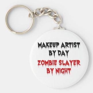 Makeupkonstnär av dagZombieslayeren vid natt Rund Nyckelring