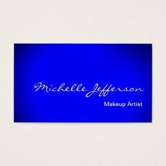 Makeupkonstnären skrivar blåttvisitkorten visitkort
