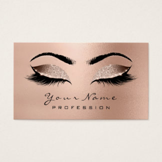 Makeupögonbryn synar rosa guld- wow för visitkort