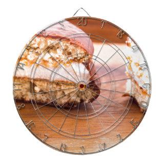 Makroen beskådar av chokladkakorna darttavlor