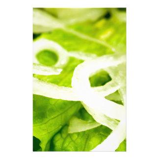 Makroen beskådar av löven av grönsallat- och brevpapper