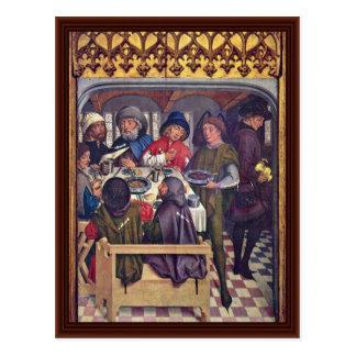 Mål av den Compostela pilgrimsfärden Vykort