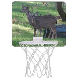 Mål för basket för hjort för två Blacktail mini- Mini-Basketkorg